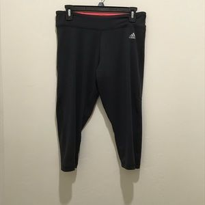 Adidas climalite crop yoga pants, medium
